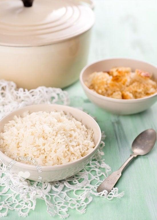 receta de arroz blanco dominicano
