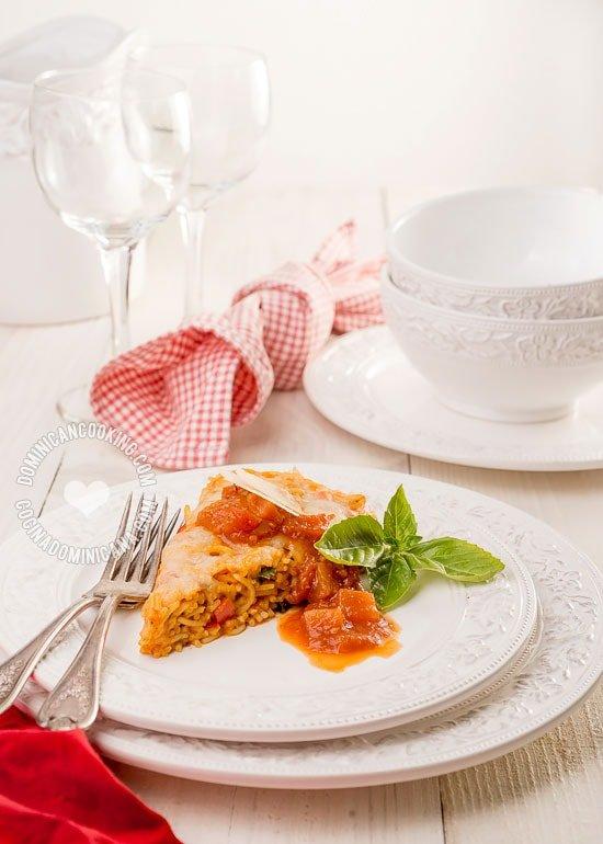 Receta Pastelón de Espagueti: Una riquísimo y una receta sin mayores dificultades que todos en casa pedirán de nuevo.