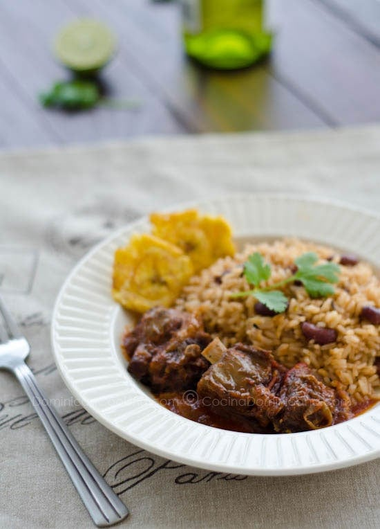 Chivo Guisado Picante Recipe (Spicy Goat Meat Stew): a recipe from the Northwest of the Dominican Republic where goats are said to feed from wild oregano.