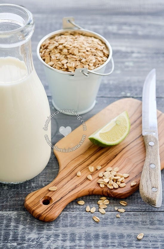 Ingredientes del Jugo de Avena