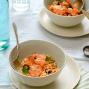 Receta Locrio de Camarones (Arroz con Camarones): un delicioso clásico de la cocina criolla imbuído de los sabores del camarón e ingredientes frescos.