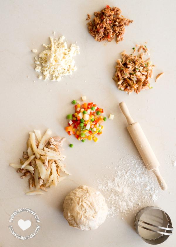 Rellenos y masa para pastelitos y empanaditas