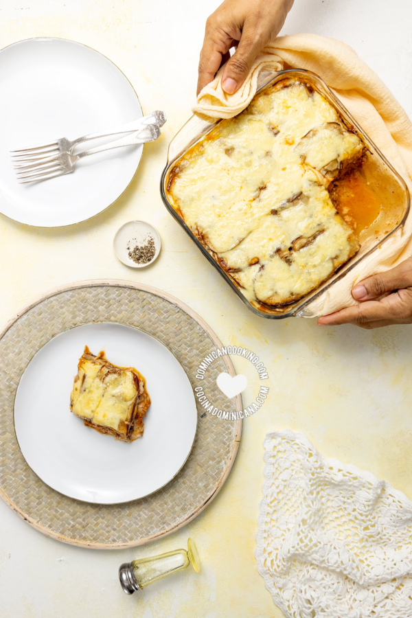 Lasaña de Berenjenas (Pastelón de Berenjenas con Carne)