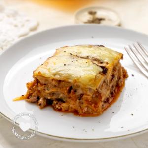 Rebanada de Lasaña de Berenjenas (Pastelón de Berenjenas con Carne)