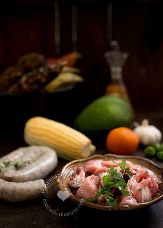 Ingredientes del Sancocho
