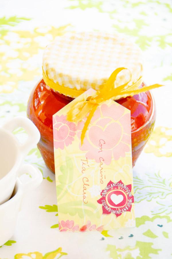 Tarro de dulce de tomate