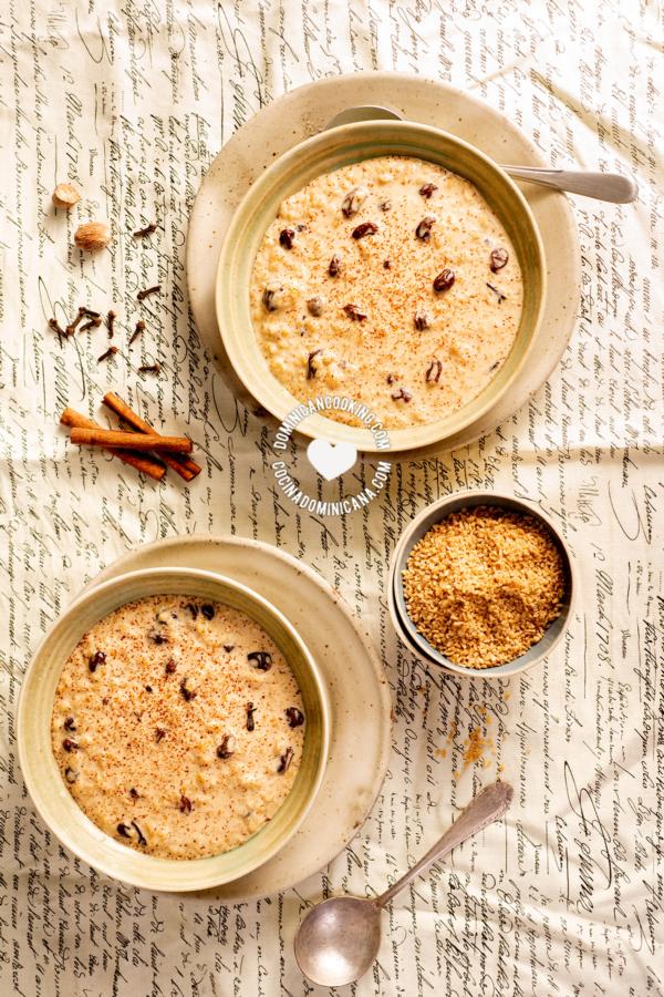 platos con trigo con dulce y especias