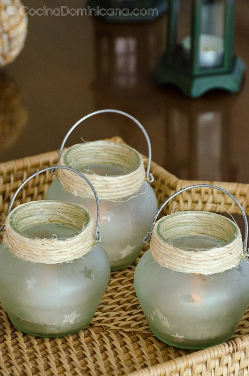 Decorando con envases de vidrio reusados for Envases de vidrio decorados