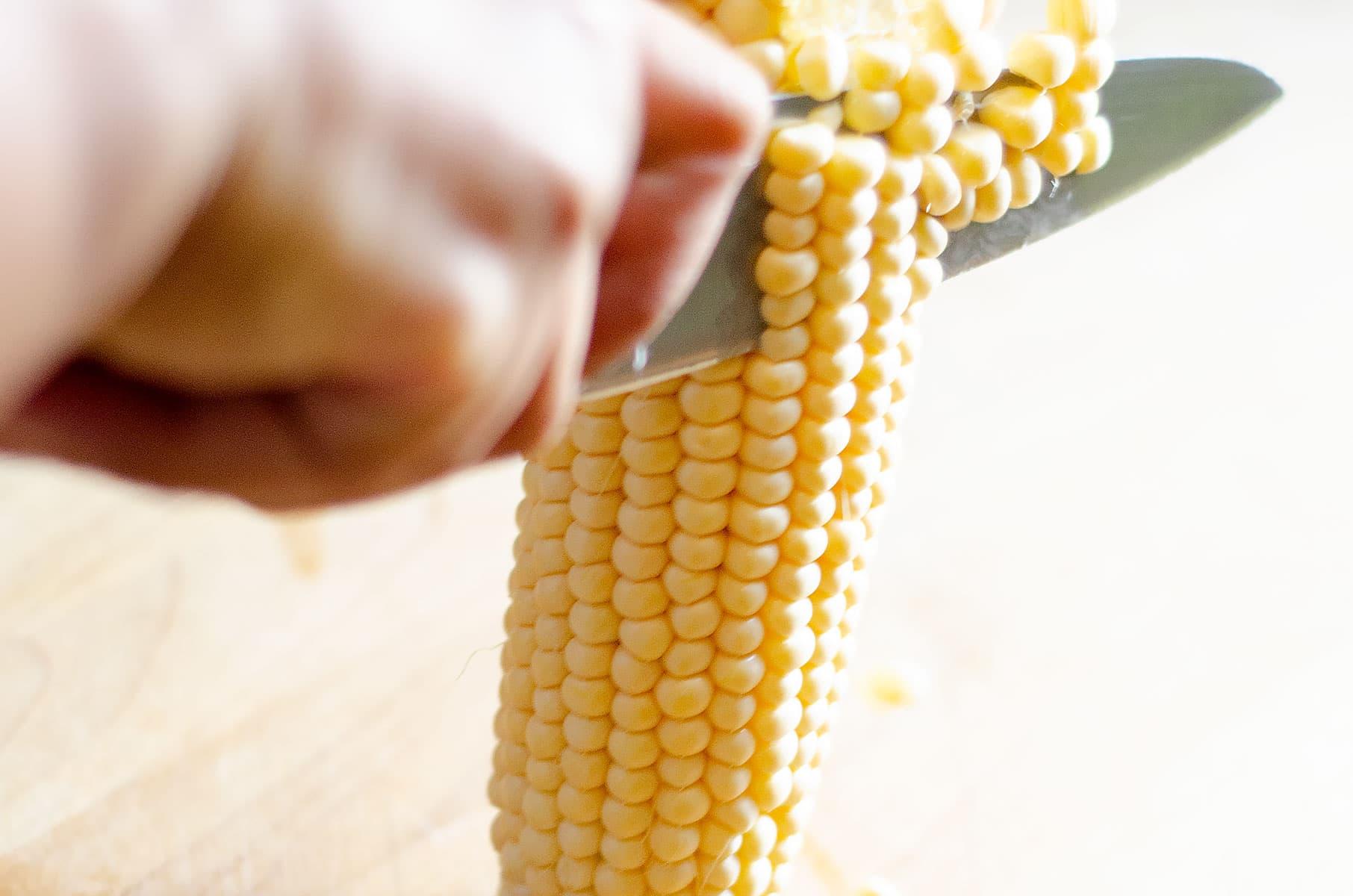 Cortando el maíz