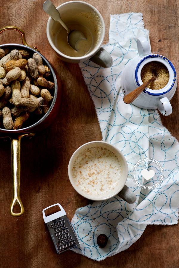 ingredients for peanut cocoa