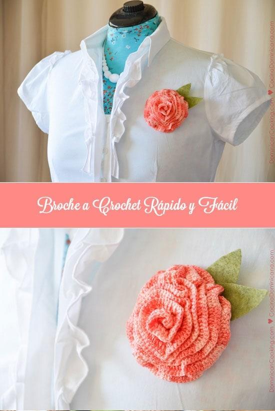 ¿Te gusta tejer? Este colorido broche, que puedes terminar en un par de horas, es perfecto para alegrar tus ropas o como un regalo especial.