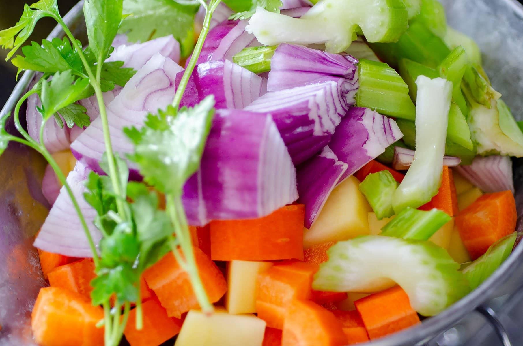 Ingredientes para la sopa