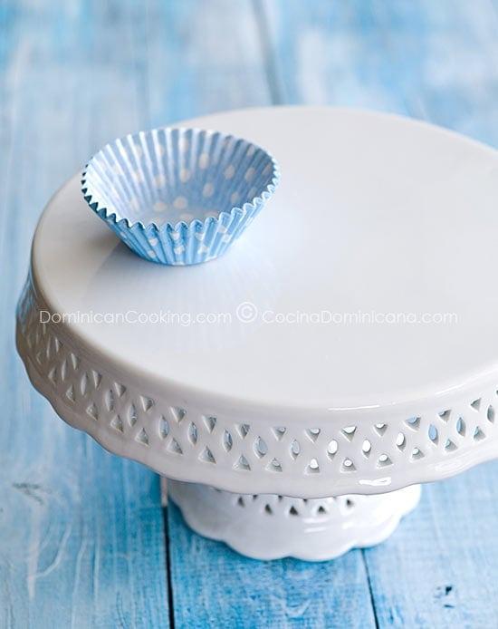 Base para pastel en porcelana