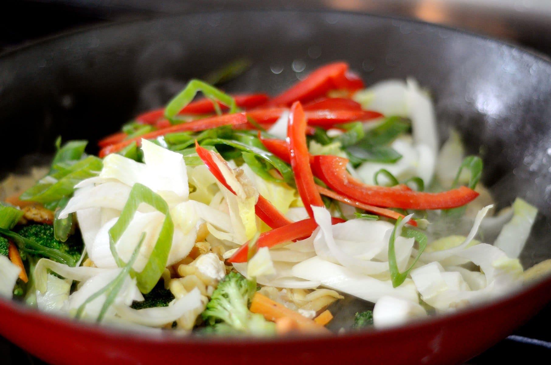 Cocinando los vegetales