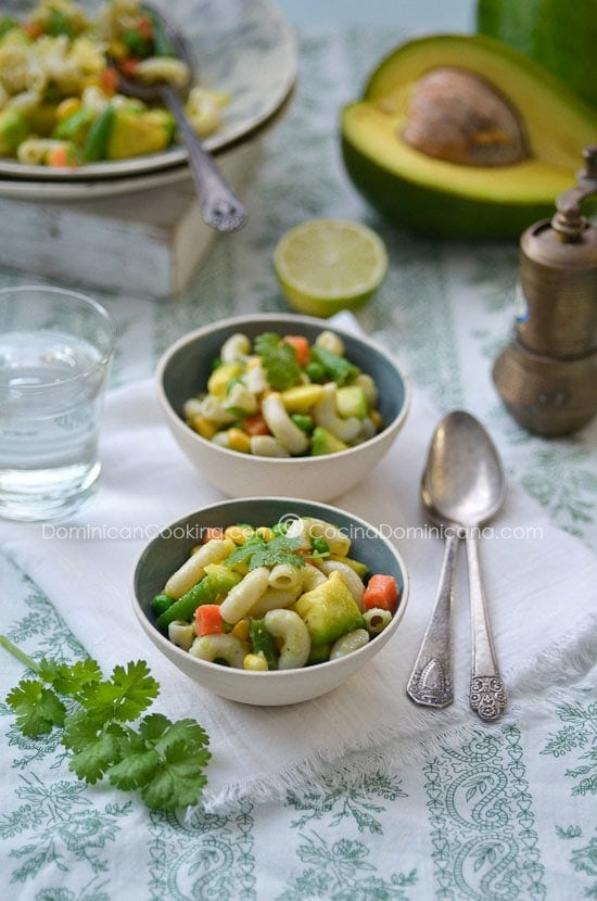 Pasta and avocado salad