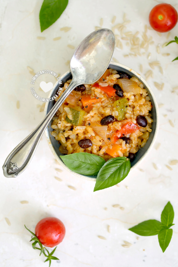 Asopao de Arroz Integral with Vegetables and Beans