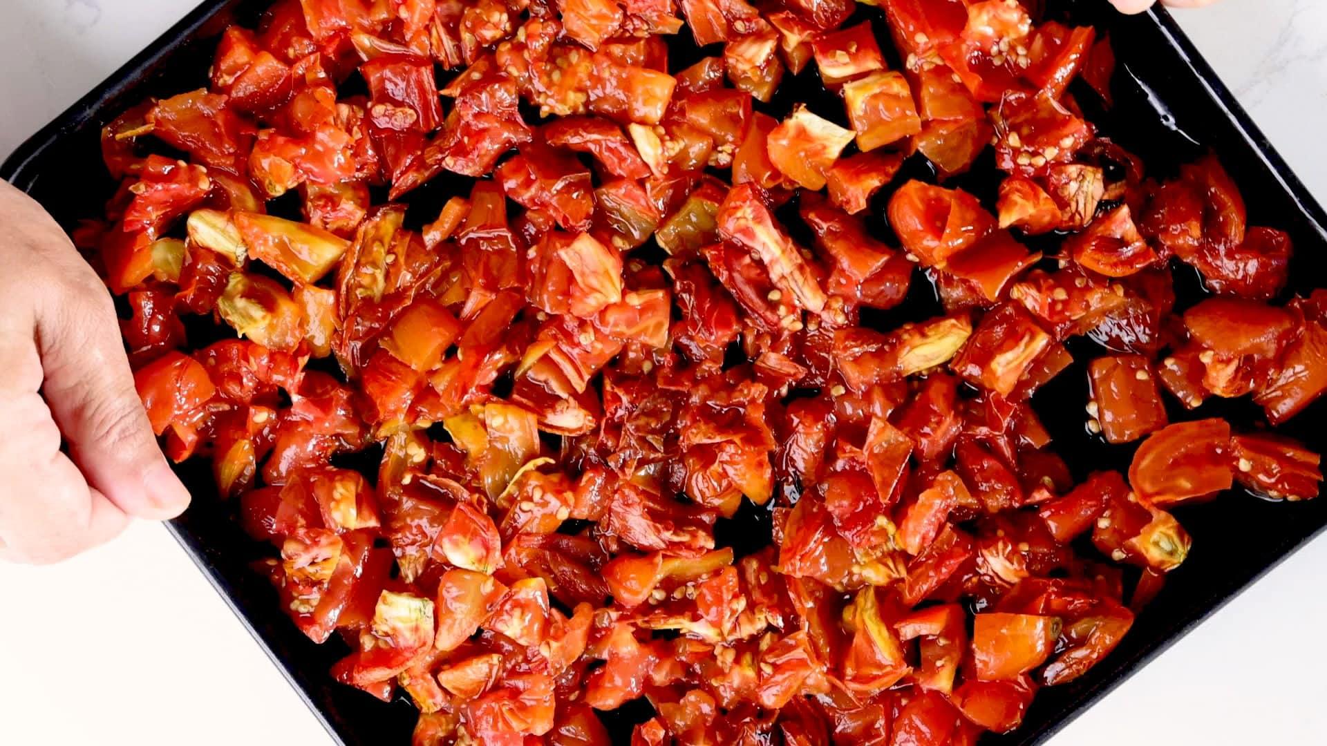 Tomates horneados