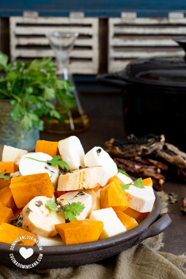 Ingredientes para Sancocho sin carne (Vegetariano Estricto)