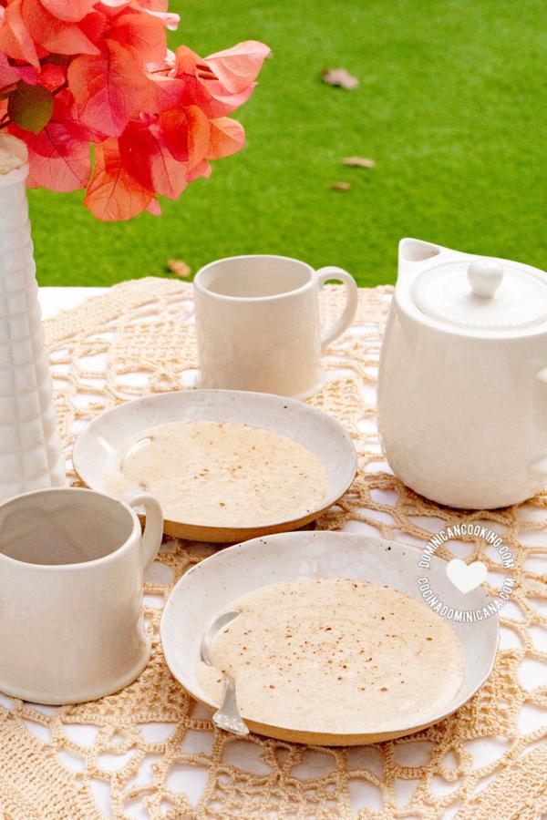 Farina (Harina del Negrito) on Table and Coffee Cups