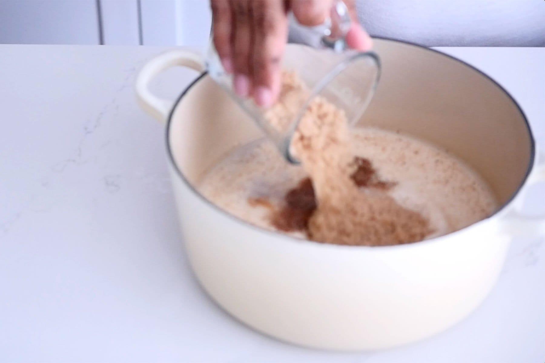 Mezclar los ingredientes