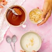Natilla de Maicena con Chocolate y Vainilla