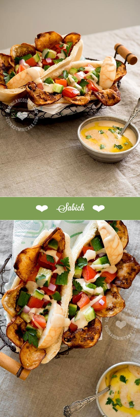 Eggplant and Eggs Pita Sandwich (Sabich) Recipe: considered the first ...