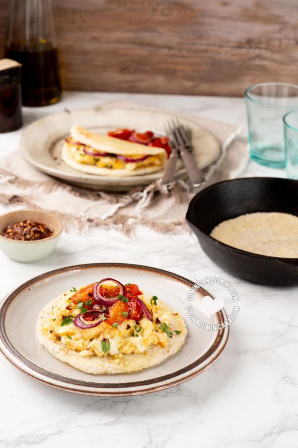 Tortilla de Casabe para el Desayuno