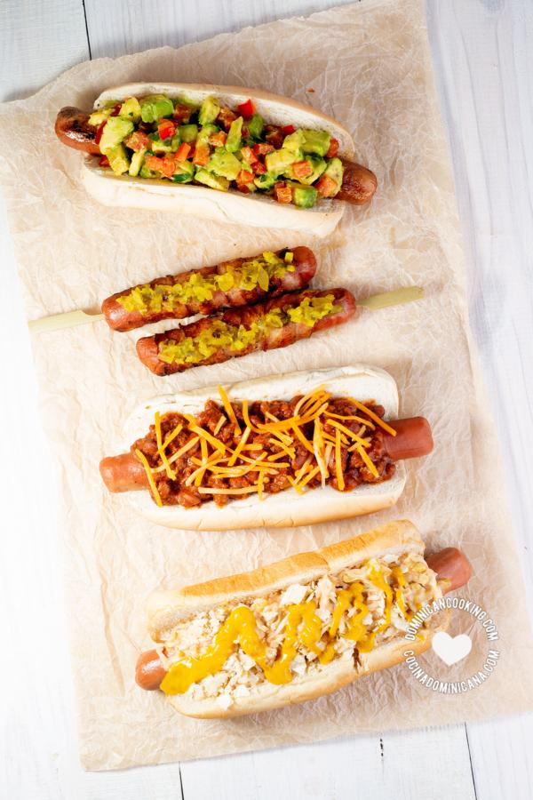 Receta hot dog dominicano
