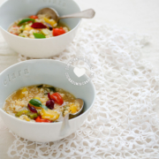 2 Soperas de Asopao Vegano de Arroz Integral y Vegetales