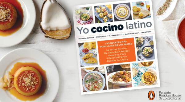 Libro Yo Cocino Latino sobre mesada