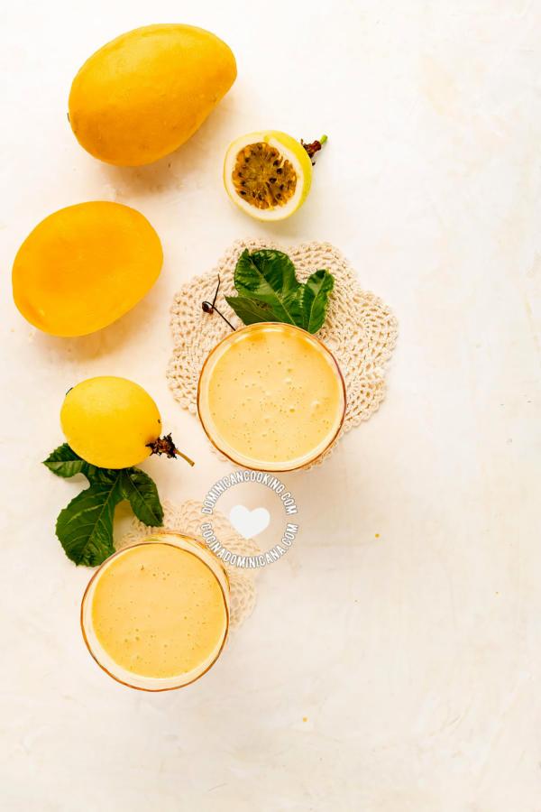 Batida y Coctel de Mango y Chinola
