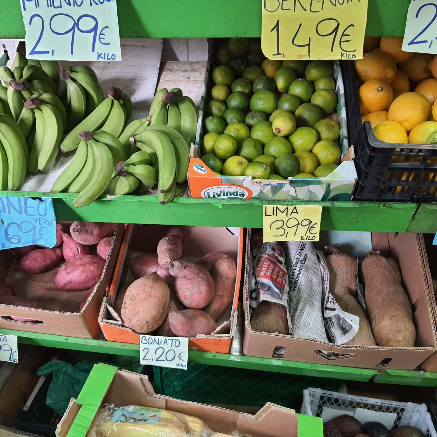 Comida dominicana en mercado de España