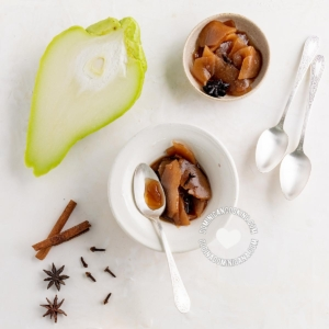 Dulce de tayota en almíbar